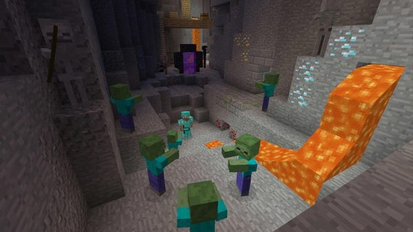 Minecraft PS3 gameplay character