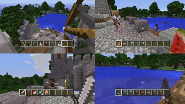 Minecraft PS3 gameplay